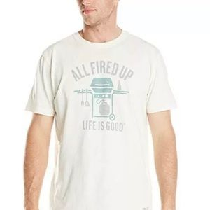 LIFE IS GOOD All Fired Up Tee Size XL